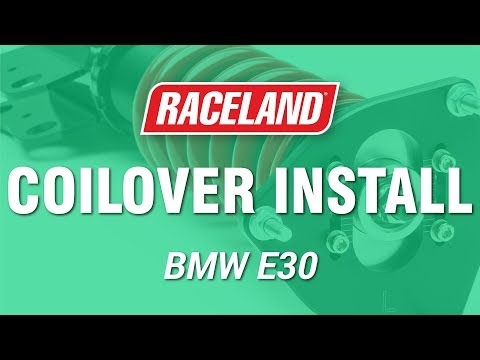 How To Install Raceland BMW E30 Coilovers