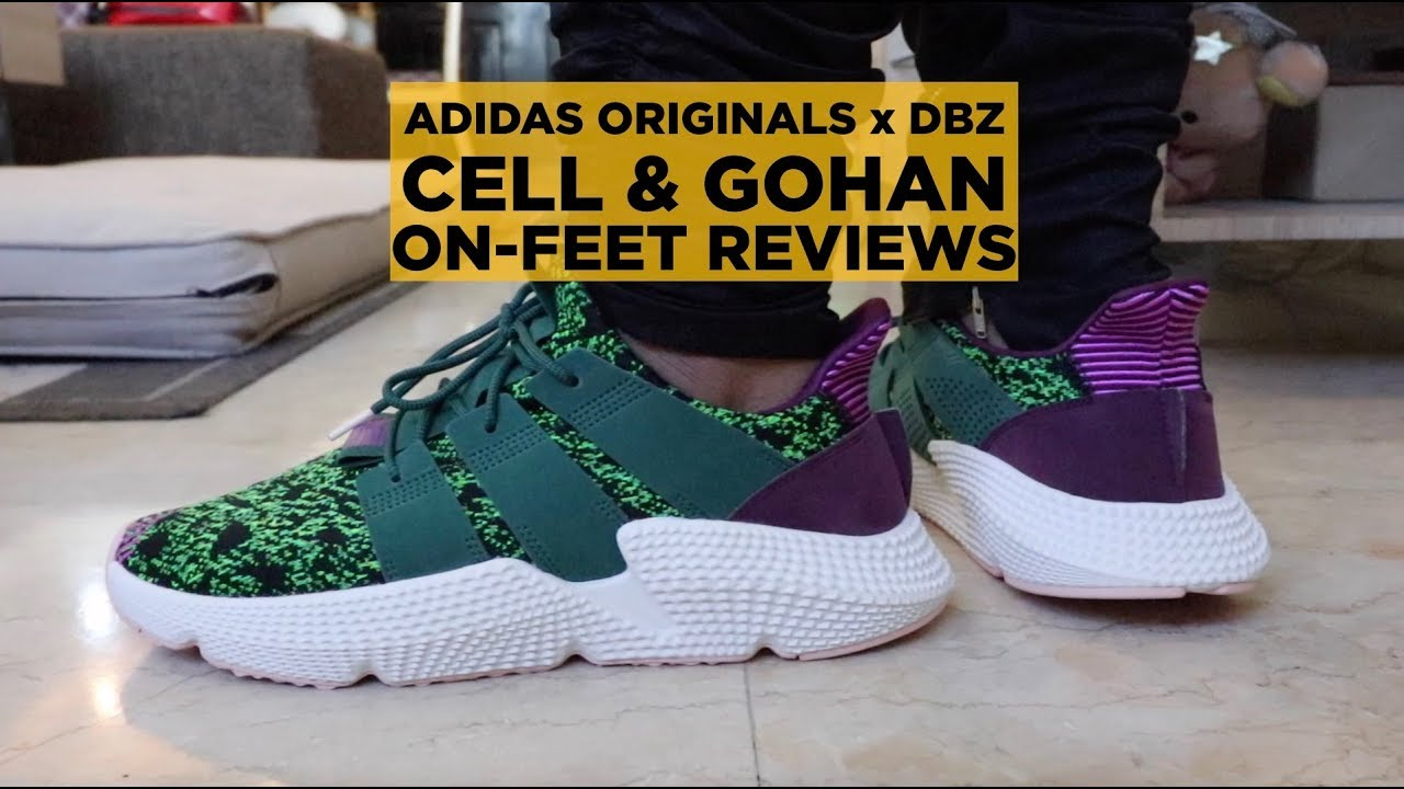 ADIDAS DRAGON BALL Z GOHAN AND CELL ON FEET REVIEWS (DOUBLE REVIEW)