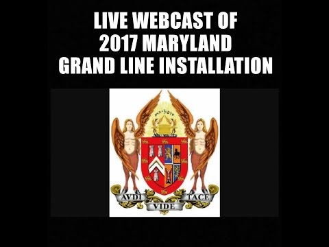 2017 Grand Lodge of Maryland Grand Line Installation (Part 1)