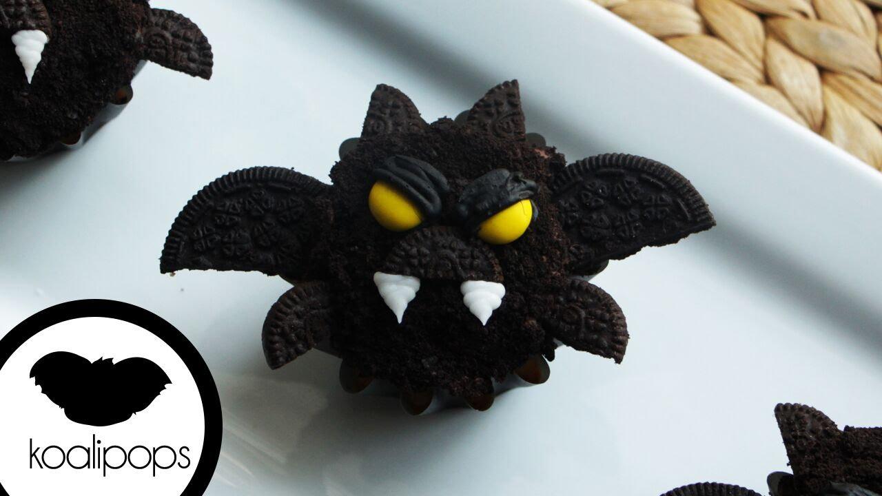 Halloween Bat Cupcakes.How To Make Bat Cupcakes Become A Baking Rockstar Youtube