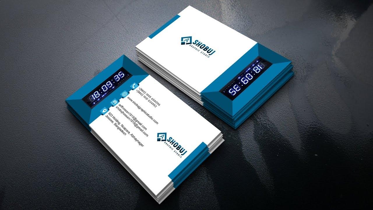 3D Business Card Design | Photoshop cc Tutorial Digital