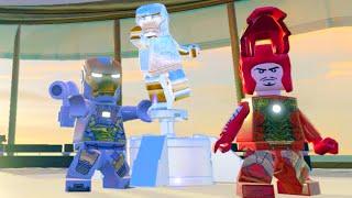 Lego Marvels Avengers Malibu Hub All Character Tokens/Gold Bricks/Collectibles