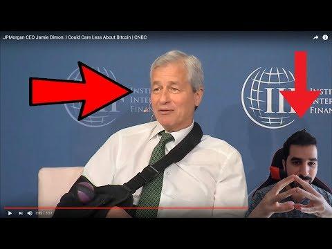 Reaction to Jamie Dimon JPMorgan Chase CEO - Saying Bitcoin Going To $0