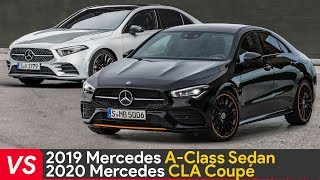 Side by side comparison about design and dimensions of 2020 Mercede...