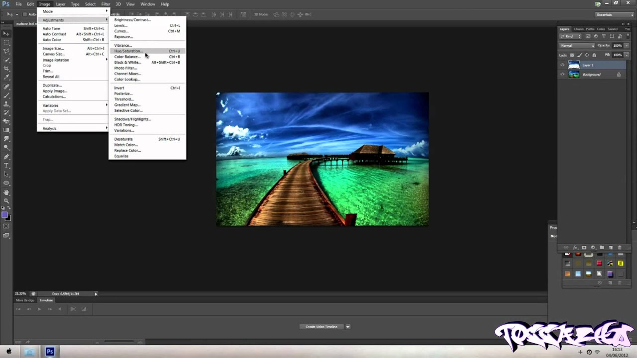 How To Change Sky Color In Photoshop CS6