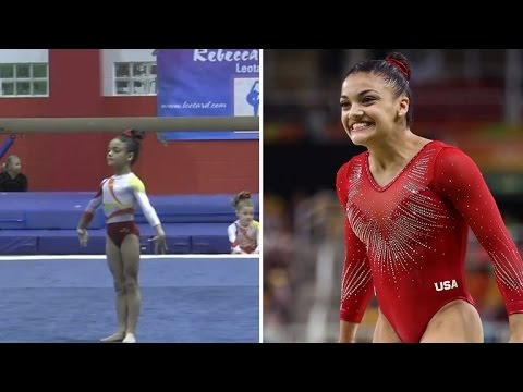 Watch Olympian Laurie Hernandez's Impressive Gymnastics Routine at 8-Years-Old