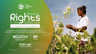 GLF Bonn 2019. Putting rights at the heart of sustainable landscapes.