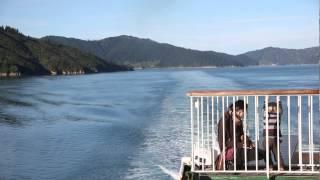 Ferry wellington-picton. Entrada a la isla sur de Nueva Zelanda.
