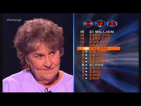 Series 8 Who Wants to be a Millionaire 2nd October 2000