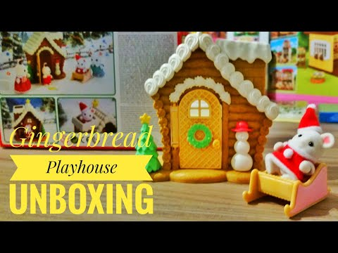 Sylvanian Families Gingerbread Playhouse Unboxing