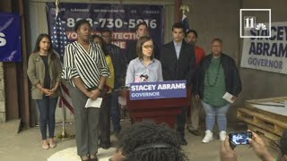 Stacey Abrams' campaign holds press conference with voters who said they had difficulty voting