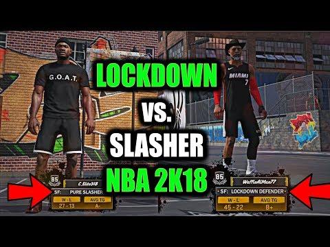 LOCKDOWN DEFENDER VS. PURE SLASHER!! FIRST GAME USING 85 OVR LOCKDOWN! EXCELLENT RELEASES!?