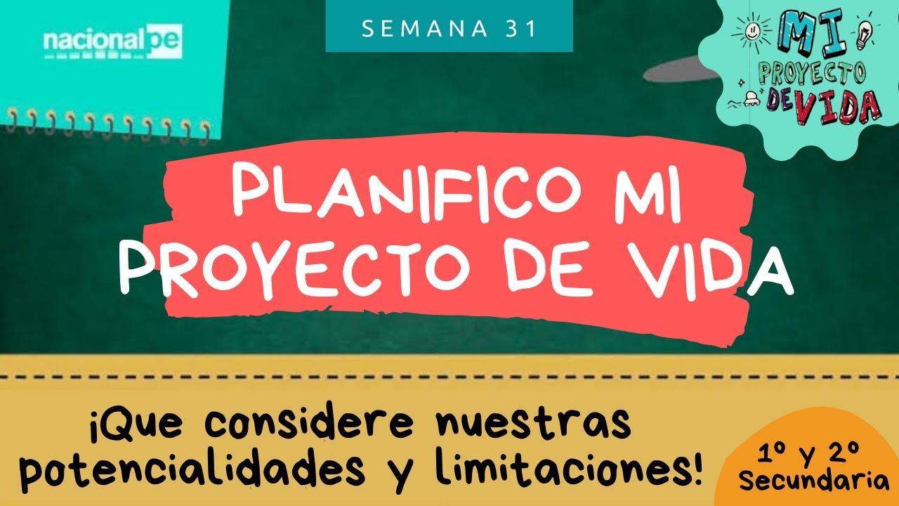 Planifico mi proyecto de vida   APRENDO EN CASA 1° y 2° Sec. - YouTube