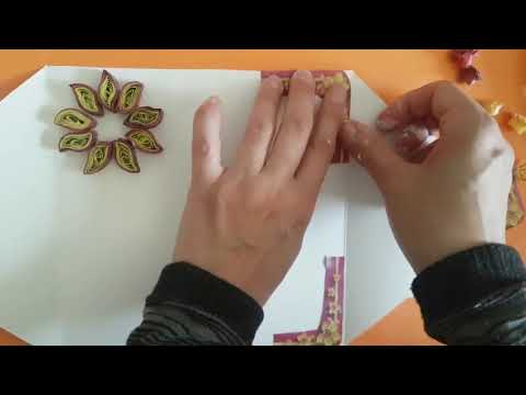 DIY greeting card - Easy card making idea - Paper Flower Card | diy projects
