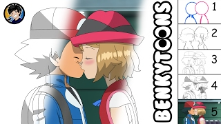 Ash and Serena Kiss Scene Animation | Layer by Layer