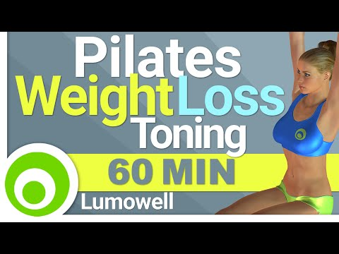 Pilates: 60 Minute Workout for Weight Loss and Toning. Pilat