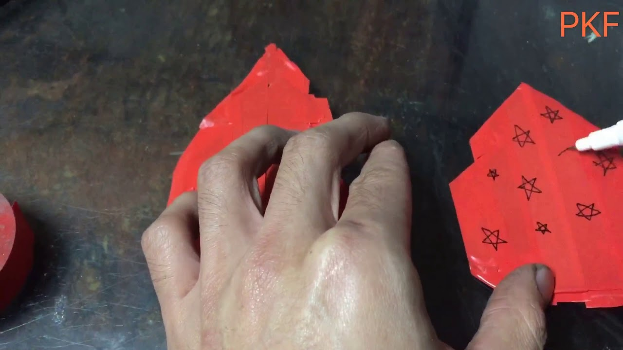 DIY Christmas tree / coloring titanium /metal polishing - YouTube