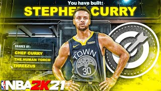 NBA 2K21 STEPH CUŔRY BUILD (THE MOST OVERPOWERED GUARD BUILD)