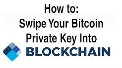 How to: Swipe Your Private Bitcoin Key Into Blockchain.info