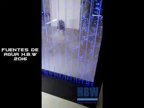 Fuente de agua burbujas y muro lloron instalados en casas for Muro cristal
