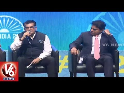 NITI Aayog CEO Amitabh Kant Addressing At GES 2017 Closing Ceremony | V6 News