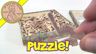 Chandos Vintage 1930's Wood Jigsaw Puzzle - Frederick Warne, Made In Great Britain