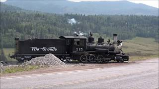 D&RGW  No. 315 Cumbres to Chama NM running light