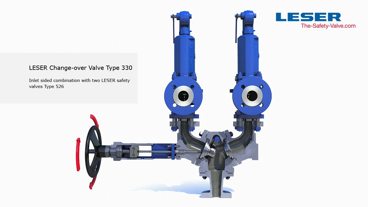 LESER Change Over Valve Inlet Sided Combination Type 330