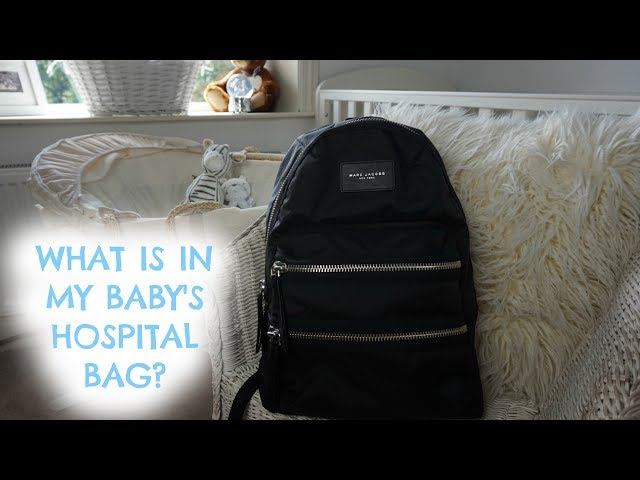 WHATS IN MY BABYS HOSPITAL BAG? | CHANGING BAG | MARC JACOBS BACKPACK!