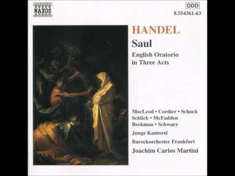 Handel  Saul English Oratorio in Three Acts   c libreto