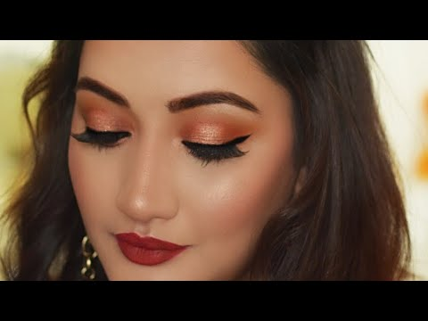 (Hindi ) Indian Party Makeup Tutorial |Valentines Day Makeup Look 2018 - YouTube