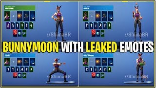 *NEW* Fortnite: BUNNY MOON SKIN WITH ALL LEAKED EMOTES! | (Criss Cross, Howl, & More)