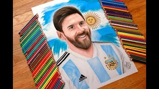 Messi drawing for the #MessiArt charity campaign