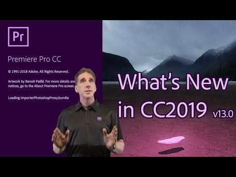 Whats New in Premiere Pro CC2019 (v13.0)