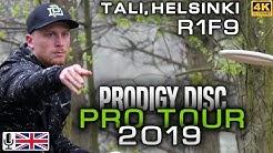 Tali Helsinki Prodigy Disc Pro Tour 2019, R1F9, Mäkelä, Hagman, Tamm, Villman, ENG COMMENTARY [4K]