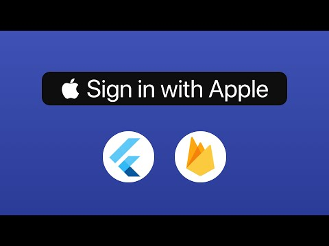 Apple Sign In with Flutter & Firebase Authentication
