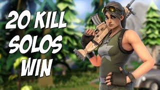 CRAZY 20 Kill SOLO Win! ALMOST DIED AT THE END! (Fortnite Battle Royale)