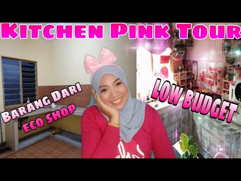 Download Finally Kitchen Pink Tour |Low Budget |Barang Dari ECO SHOP|By Hana Puteri Pink