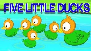 пять маленьких уток | русский мультфильмы для детей | Five Little Ducks | Kids Rhymes Russia