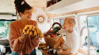 VAN LIFE VEGAN GROCERY HAUL | Bus Home Living