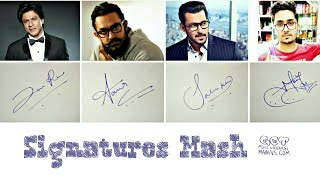 How to Draw Signature like Shahrukh,Salman&Amir(Professional Signatures)