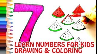 Learn Numbers Coloring and Drawing. Learn Colors for kids 1 to 10