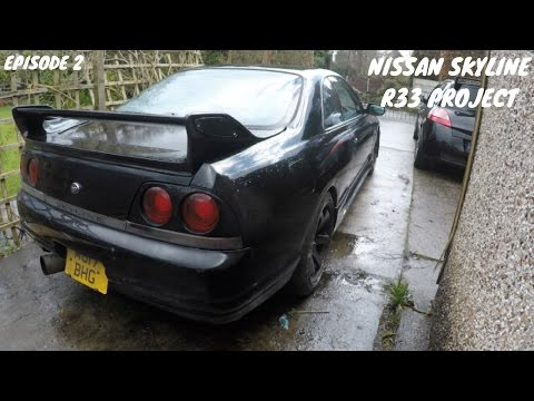 Nissan Skyline R33 Project Build Episode 2 - Stripping Interior + New Parts!