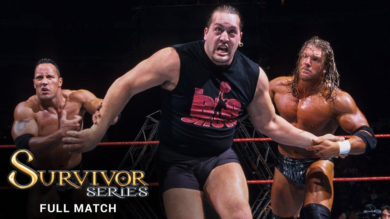 FULL MATCH - Triple H vs The Rock vs Big Show - WWE Title Triple Threat Match: Survivor Series 1999