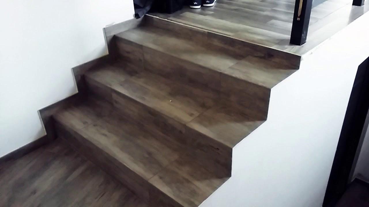 Nowość Schody z płytek imitacja drewna / stairs tiles - YouTube PW87