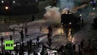 RAW: Argentina fans clash with riot cops after World Cup final loss