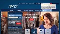 Arvest Bank Website Demo