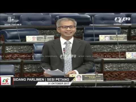 Perbahasan Parlimen: Tony Pua (PJU) kutuk Najib, 1MDB, Arul Kanda (31.10.17)