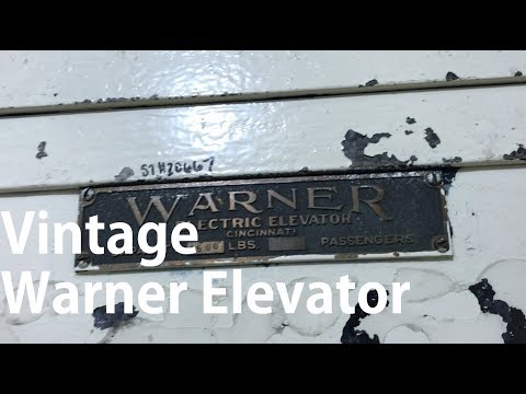 Vintage Warner Elevator, Smith Hall, Purdue University